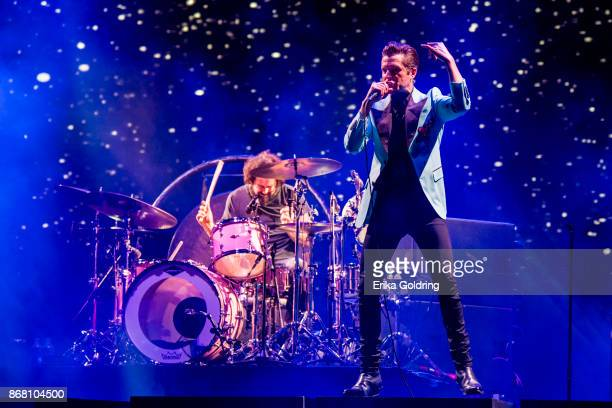 Brandon Flowers of The Killers performs during the 2017 Voodoo Music Arts Experience at City Park on October 29 2017 in New Orleans Louisiana