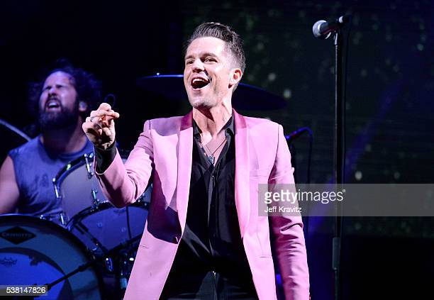 Brandon Flowers of The Killers performs onstage during 2016 Governors Ball Music Festival at Randall's Island on June 4 2016 in New York City