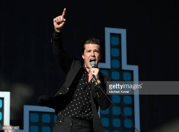 Brandon Flowers of The Killers performs onstage during the 2017 Global Citizen Festival in Central Park to End Extreme Poverty by 2030 at Central...