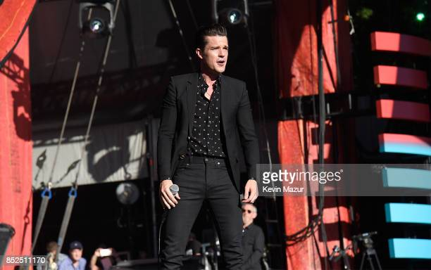 Brandon Flowers of The Killers performs onstage during the 2017 Global Citizen Festival For Freedom For Justice For All in Central Park on September...