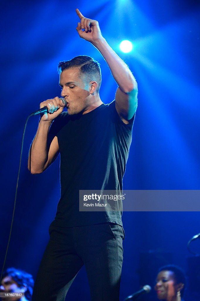 Brandon Flowers of The Killers performs onstage during the