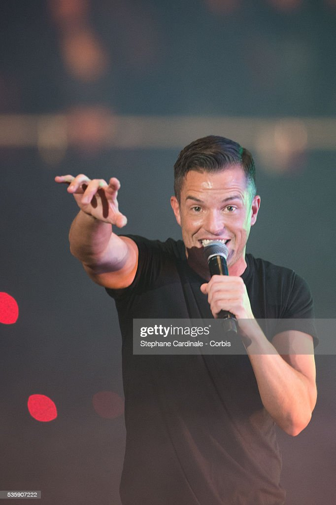 Brandon Flowers of The Killers performs onstage during the MTV EMA's 2013 at the Ziggo Dome in Amsterdam, Netherlands.