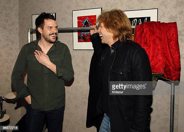 Brandon Flowers of The Killers with Jon Bon Jovi *EXCLUSIVE*