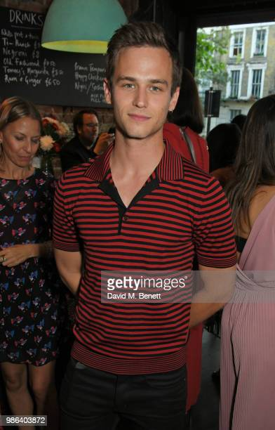 Brandon Flynn attends a London dinner to celebrate the Persol SS/18 Good Point Well Made Live Series hosted by Jefferson Hack and Brandon Flynn at...