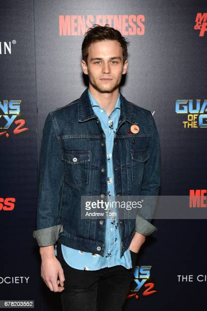 Brandon Flynn attends a screening of Marvel Studios' 'Guardians of the Galaxy Vol 2' hosted by The Cinema Society at the Whitby Hotel on May 3 2017...