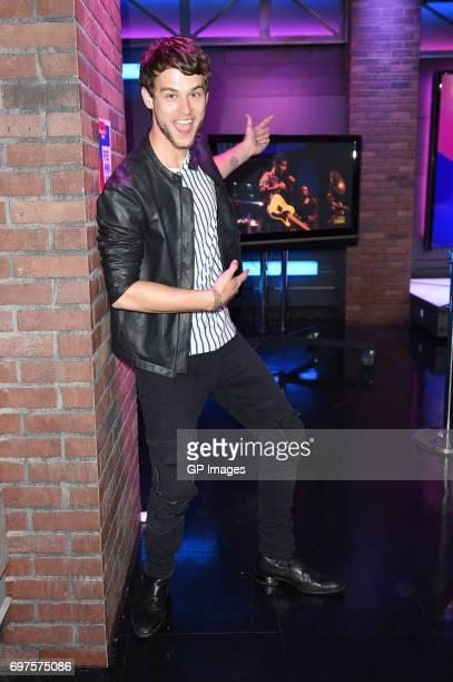 Brandon Flynn attends the 2017 iHeartRadio MuchMusic Video Awards Press Room on June 18 2017 in Toronto Canada
