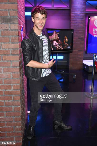 Brandon Flynn attends the 2017 iHeartRadio MuchMusic Video Awards Press Room on June 18 2017 in Toronto Canada