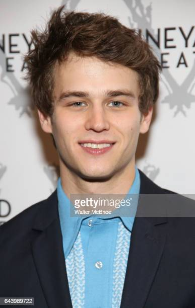Brandon Flynn attends the opening night performance photo call of the Vineyard Theatre's 'Kid Victory' at the Vineyard Theatre on February 22, 2017...