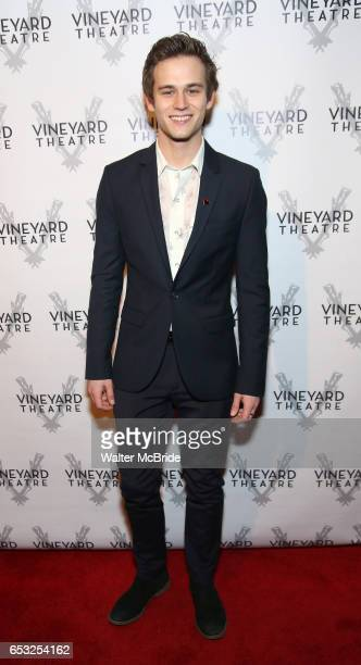 Brandon Flynn attends the Vineyard Theatre 2017 Gala at the Edison Ballroom on March 14 2017 in New York City