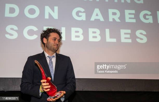 "Brandon Garegnani of ""Scribblers"" wins Best Writing at the Catalyst Content Awards Gala on October 13 2019 in Duluth Minnesota"