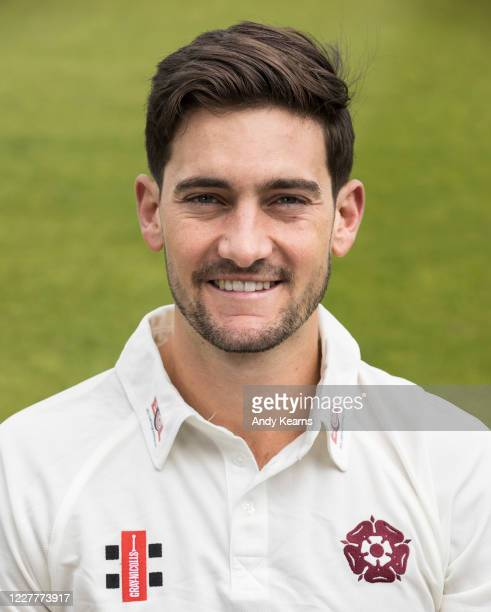 Brandon Glover of Northamptonshire during the Northamptonshire County Cricket Club Photo Shoot at The County Ground on July 10 2020 in Northampton...