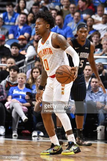 Brandon Goodwin of the Atlanta Hawks handles the ball against the Orlando Magic on December 30 2019 at Amway Center in Orlando Florida NOTE TO USER...