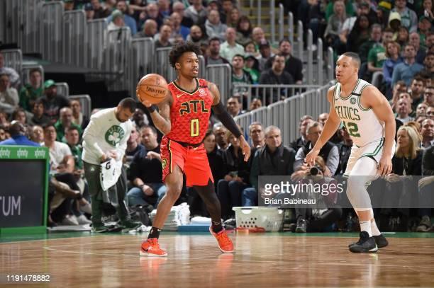 Brandon Goodwin of the Atlanta Hawks handles the ball against the Boston Celtics on January 3 2020 at the TD Garden in Boston Massachusetts NOTE TO...