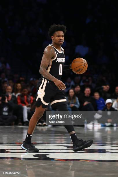 Brandon Goodwin of the Atlanta Hawks in action against the Brooklyn Nets at Barclays Center on January 12 2020 in New York City Brooklyn Nets...