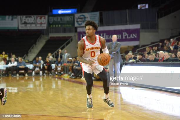 Brandon Goodwin of the College Park SkyHawks handles the ball during a G League game between the Erie BayHawks and the College Park SkyHawks at the...