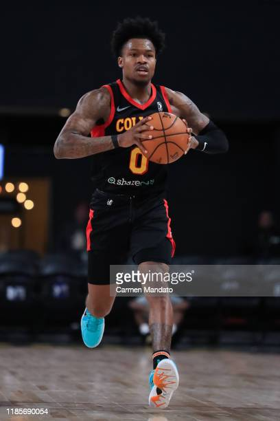 Brandon Goodwin of the College Park Skyhawks looks to pass during the third quarter of an NBA GLeague game Canton Charge on November 30 2019 at The...