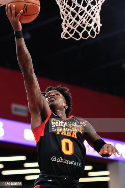 Brandon Goodwin of the College Park Skyhawks puts up a lay up during the first quarter of an NBA GLeague game against the Windy City Bulls on...