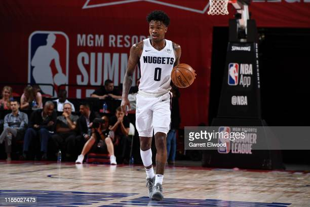 Brandon Goodwin of the Denver Nuggets handles the ball against China on July 10 2019 at the Thomas Mack Center in Las Vegas Nevada NOTE TO USER User...
