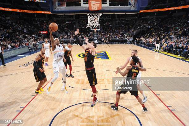 Brandon Goodwin of the Denver Nuggets shoots the ball against the Cleveland Cavaliers on January 19 2019 at the Pepsi Center in Denver Colorado NOTE...