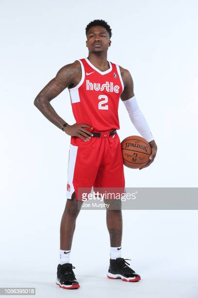 Brandon Goodwin of the Memphis Hustle poses for a portrait during the NBA GLeague media day on November 1 2018 at FedExForum in Memphis Tennessee...