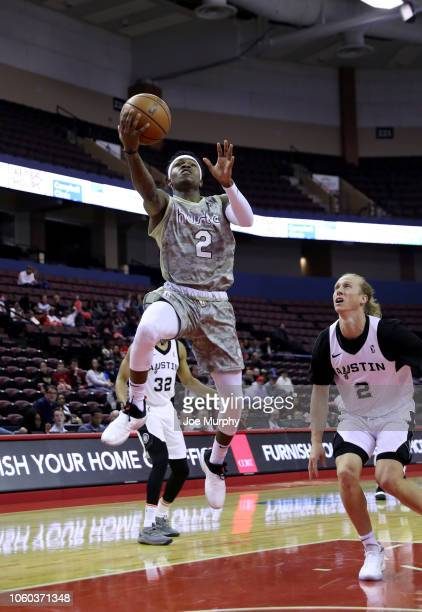 Brandon Goodwin of the Memphis Hustle shoots the ball against the Austin Spurs on November 11 2018 at Landers Center in Southaven Mississippi NOTE TO...