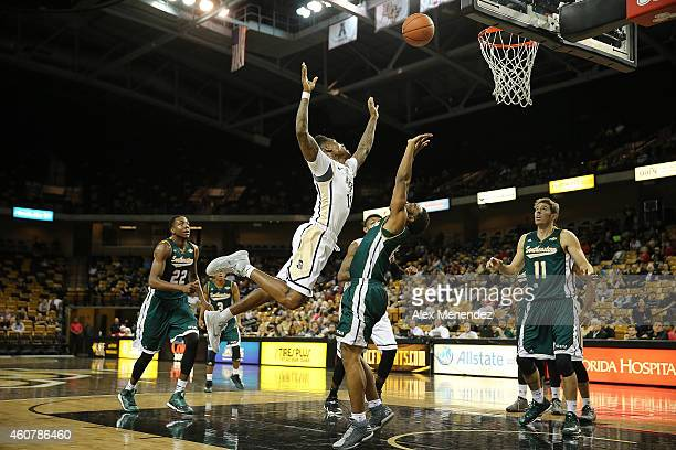 Brandon Goodwin of the UCF Knights drives to the basket during an NCAA basketball game against the Southeastern Louisiana Lions at the CFE Arena on...