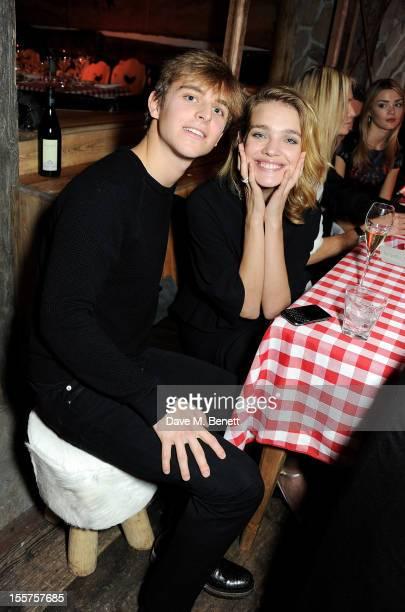 Brandon Green and Natalia Vodianova attend as Elizabeth Saltzman hosts a private dinner celebrating the launch of Piers Adam's new restaurant 'Bodo's...