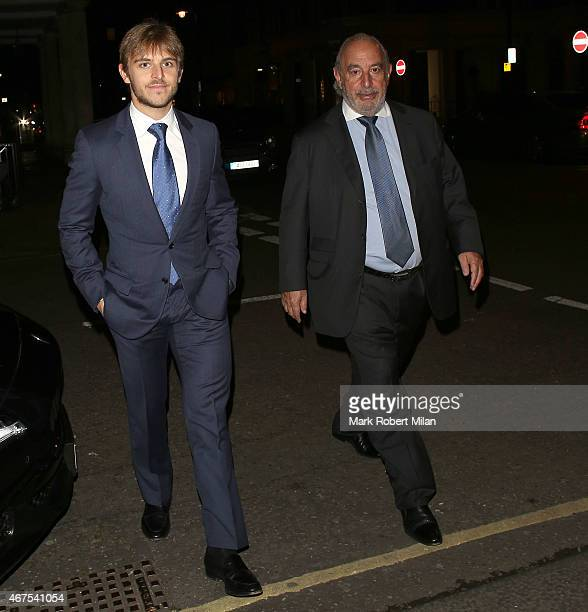 Brandon Green and Sir Philip Green at Harry's Bar on March 25 2015 in London England