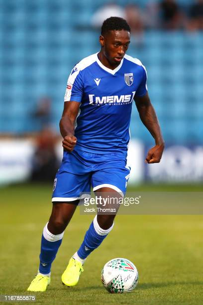 Brandon Hanlan of Gillingham FC runs with the ball during the Carabao Cup First Round match between Gillingham and Newport County at MEMS Priestfield...