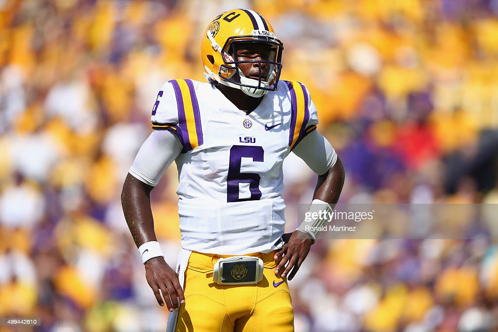 Brandon Harris #6 of the LSU Tigers in the first quarter at Tiger Stadium on September 19, 2015 in Baton Rouge, Louisiana.