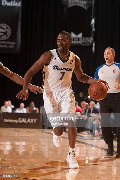 Brandon Heath of the Reno Bighorns drives against the Delaware 87ers during the 2014 NBA DLeague Showcase presented by Samsung Galaxy on January 5...