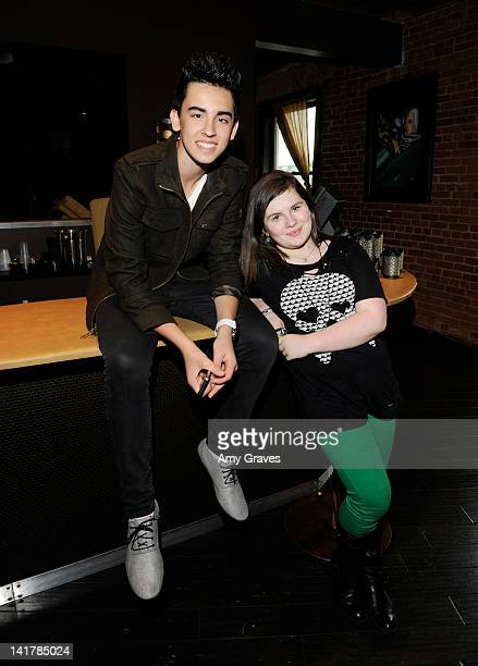 Brandon Hudson and Lauren Dair Owens attend the Shamrock and Roll Concert for St. Jude Children's Hospital on March 17, 2012 in Los Angeles,...
