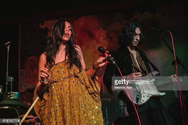 Brandon Hudsonon and Savannah Hudsonon of The Heirs perform on Stage and Speakeasy during SXSW March 16 2016 in Austin Texas