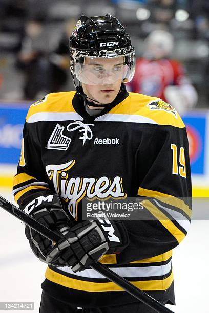 Brandon Hynes of the QMJHL AllStars skates during Game 1 of the QMJHLRussia Subway Super Series at Centre Desjardins on November 7 2011 in...