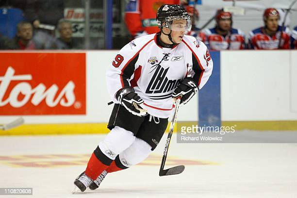 Brandon Hynes of the QMJHL AllStars skates during the 2010 CHL Subway Super Series game against the Russia AllStars at the Centre Marcel Dionne on...