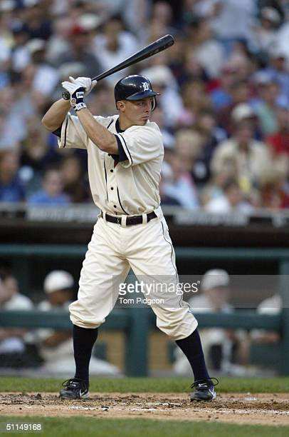 Brandon Inge of the Detroit Tigers stands ready at bat during the game against the Chicago White Sox on July 31 2004 in Detroit Michigan The Tigers...