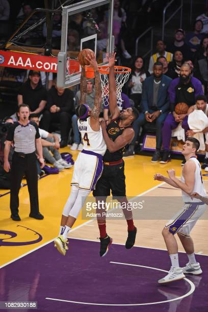 Brandon Ingram of the Los Angeles Lakers dunks the ball against the Cleveland Cavaliers on January 13 2019 at STAPLES Center in Los Angeles...
