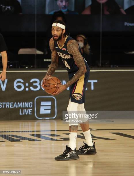Brandon Ingram of the New Orleans Pelicans against the San Antonio Spurs as part of the NBA Restart 2020 on August 9 2020 at The Field House at ESPN...
