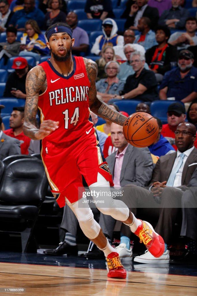 Brandon Ingram Of The New Orleans Pelicans Dribbles The Ball