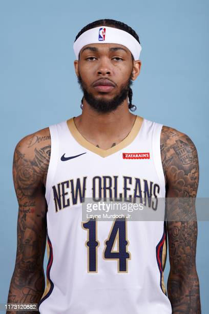 Brandon Ingram of the New Orleans Pelicans poses for a head shot during media day on September 30 2019 at the Ochsner Sports Performance Center in...