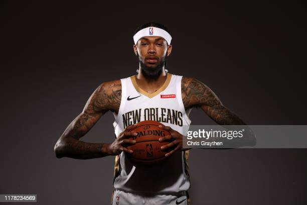 Brandon Ingram of the New Orleans Pelicans poses for a photo during Media Day at the Ochsner Sports Performance Center on September 30 2019 in...
