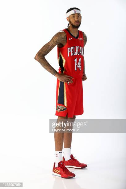 Brandon Ingram of the New Orleans Pelicans poses for a portrait on July 16, 2019 at Ochsner Sports Performance Center in Metairie, Louisiana. NOTE TO...