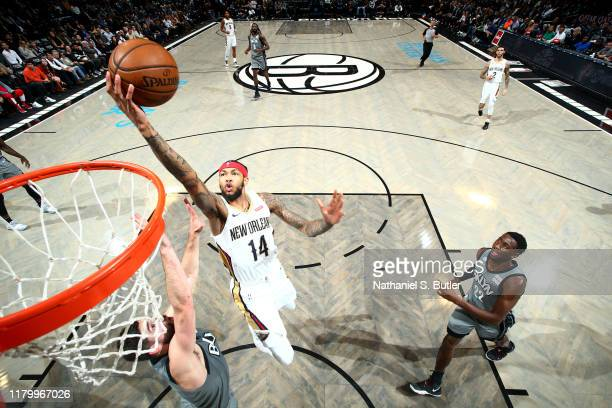 Brandon Ingram of the New Orleans Pelicans shoots the ball against the Brooklyn Nets on November 4, 2019 at Barclays Center in Brooklyn, New York....