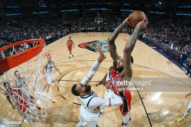 Brandon Ingram of the New Orleans Pelicans shoots the ball against the Utah Jazz on January 16, 2020 at the Smoothie King Center in New Orleans,...