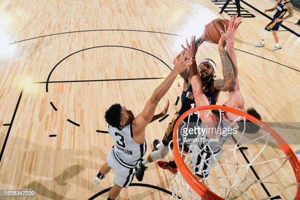 Brandon Ingram of the New Orleans Pelicans shoots the ball against the San Antonio Spurs on August 9 2020 at The Field House at ESPN Wide World of...