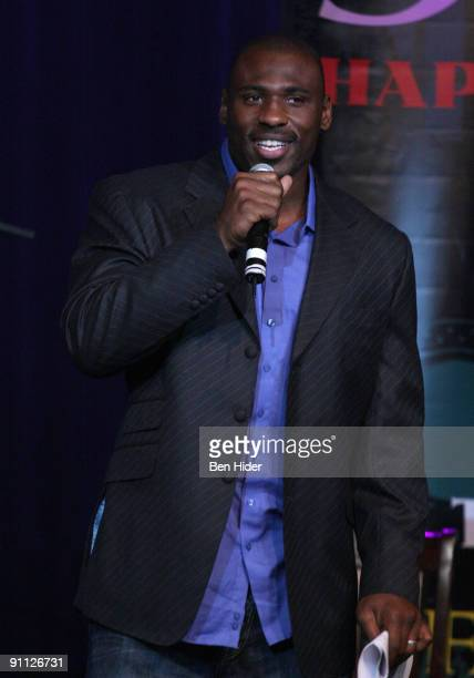 Brandon Jacobs attends the 3rd annual Tiki Rocks The Square for the Children's Miracle Network at the Hard Rock Cafe Times Square on September 24...
