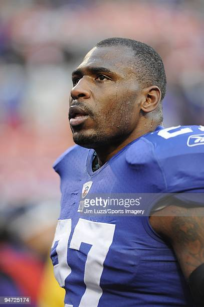 Brandon Jacobs of the New York Giants during a NFL game against the Dallas Cowboys on December 6 2009 at Giants Stadium in East Rutherford New Jersey...