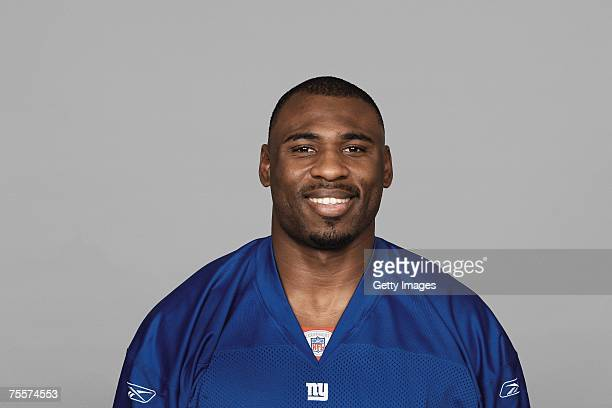 Brandon Jacobs of the New York Giants poses for his 2007 NFL headshot at photo day in East Rutherford New Jersey