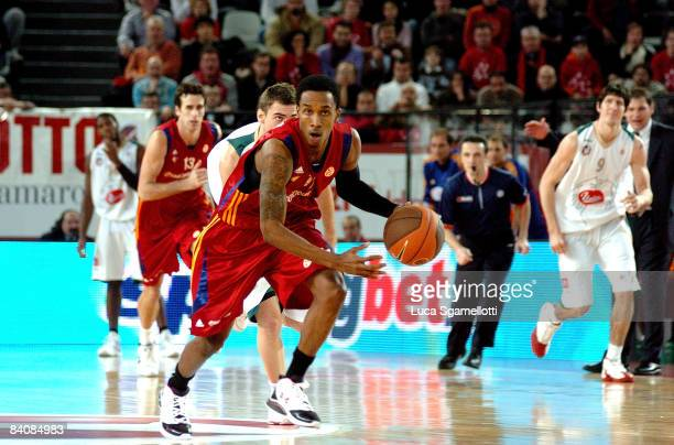 Brandon Jennings #11 of Lottomatica Roma in action during the Euroleague Basketball Game 8 match between Lottomatica Roma and Union Olimpija...