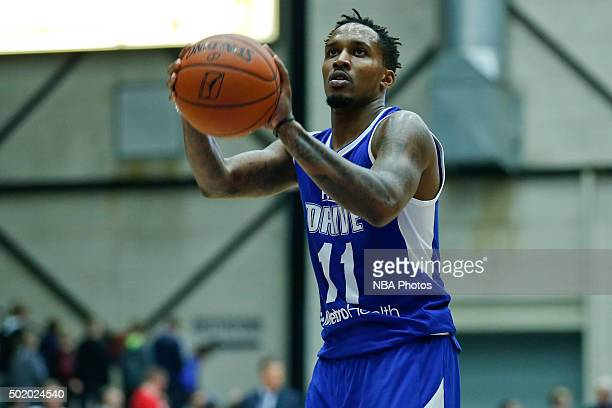 Brandon Jennings of the Grand Rapids Drive shoots a free throw against the Iowa Energy during the second half of an NBA DLeague game on December 19...